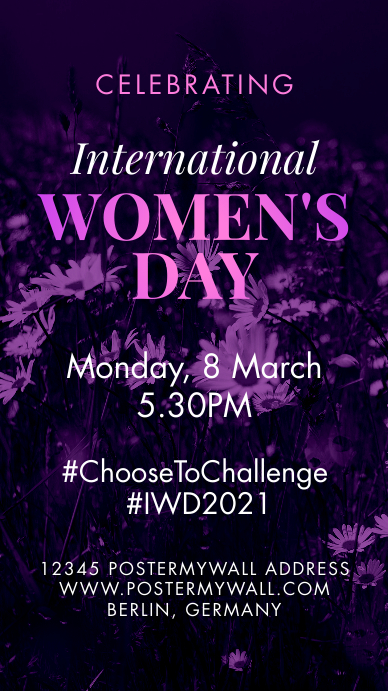 International Womens Day Celebration #IWD2021 Historia de Instagram template