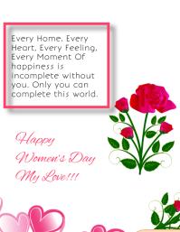 International Womens day ใบปลิว (US Letter) template
