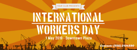 International Worker's Day Banner Design Facebook-omslagfoto template