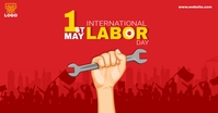 international worker day Facebook-annonce template