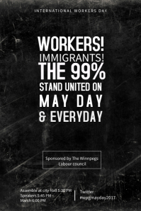 International Workers Day Poster Template