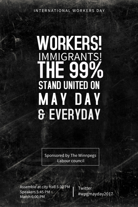 International Workers Day Poster Template | PosterMyWall