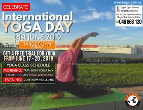 International Yoga Day Iflaya (Incwadi ye-US) template