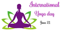 International yoga day Ikhava Yevidiyo ye-Facebook (16:9) template