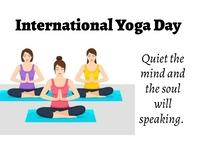 International Yoga day Postcard template