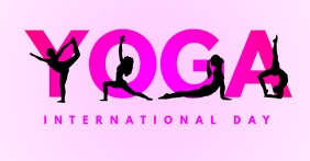 international yoga day facebook post template