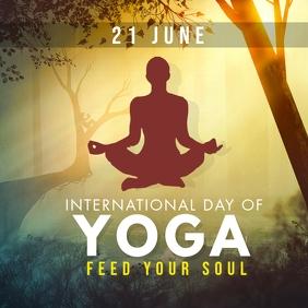 international yoga day instagram post