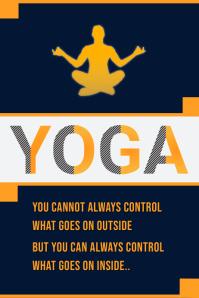 International Yoga Day Template Design Плакат