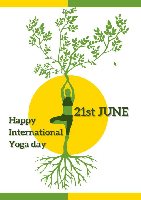 International Yoga Day Template A4