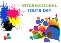 International youth day Postcard template