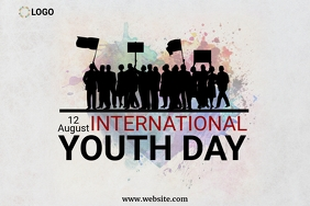 International youth day design template Poster