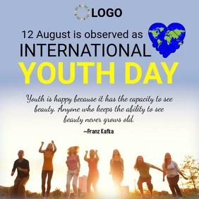 International youth day design template Publicação no Instagram
