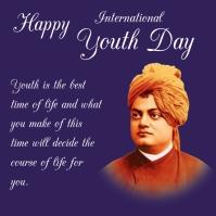 International youth day Ilogo template