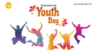 International youth day facebook event cover template