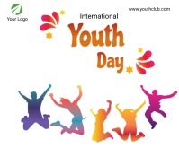 International youth day Medium rectangle Rectángulo Mediano template