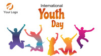International youth day Twitter post template