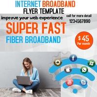 internet broadband flyer template Publicación de Instagram