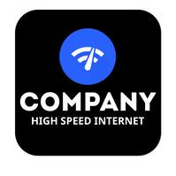 Internet company logo template