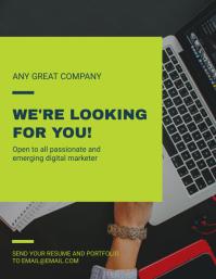 Internship Program recruitment Flyer Template