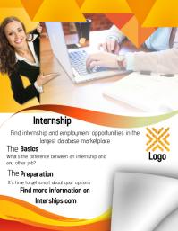 customizable design templates for internship | postermywall, Presentation templates