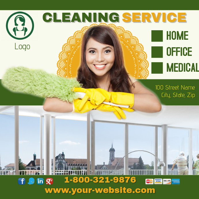 Intragram Cleaning Service Template