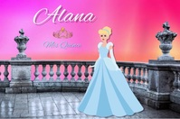 Intro birthday/princess/quinceanera/fairytale Poster template