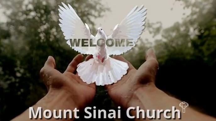 intro worship holy spirit welcome church 数字显示屏 (16:9) template