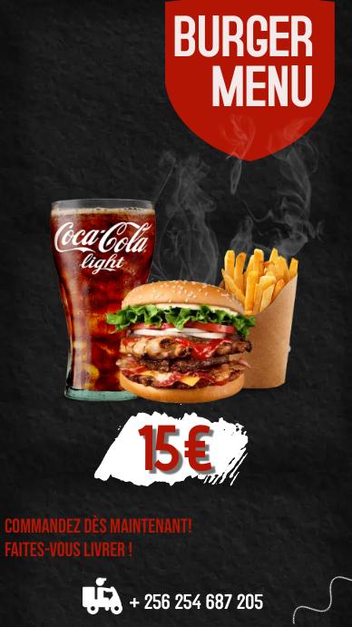 Intstagram story burger template