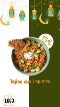 Intstagram story oriental food template
