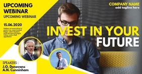 Invest in your future Webinar event Facebook Advertensie template