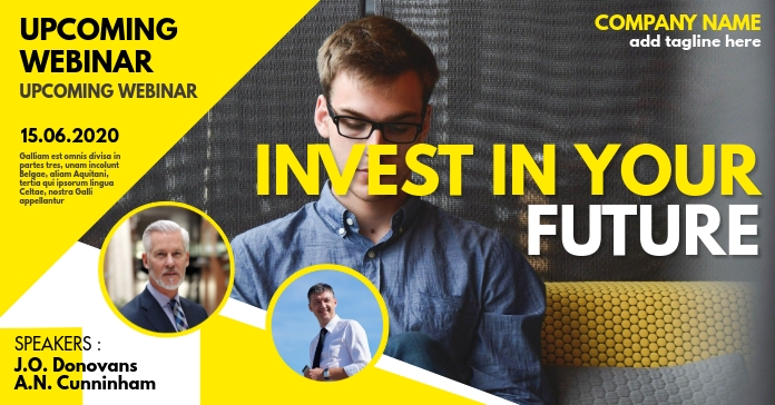 Invest in your future Webinar event template