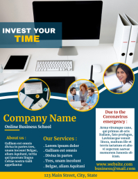 Invest your time online flyer social media 传单(美国信函) template