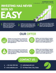 investing and finance corporate flyer adverti Volantino (US Letter) template
