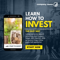 investing and finance instagram post advertis template