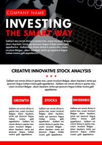 investing and finance newsletter design templ A4 template