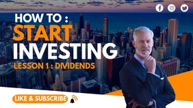 investing and finance youtube thumbnail desig template