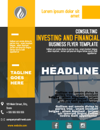 Investing and financial business flyer templa
