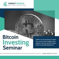 investing bitcoin seminar advertisement Instagram-Beitrag template