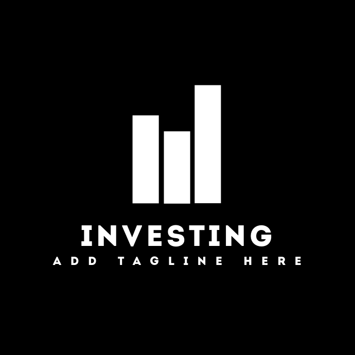 investing black and white logo template