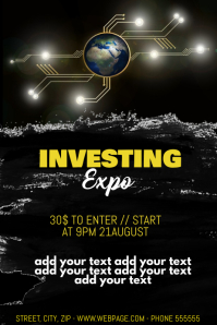 Investing expo flyer template