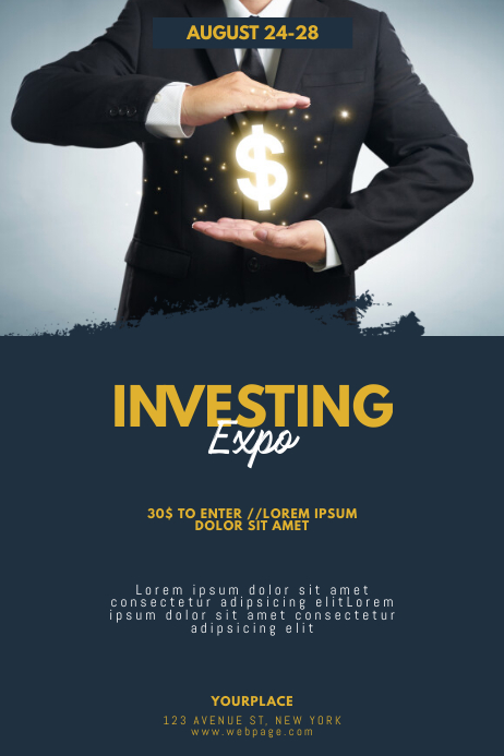 Investing money Expo Flyer Template