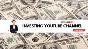 investing youtube channel cover design templa template