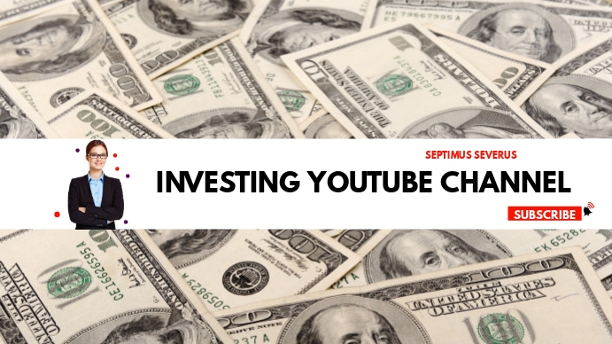 investing youtube channel cover design templa Coverfoto til YouTube-kanal template