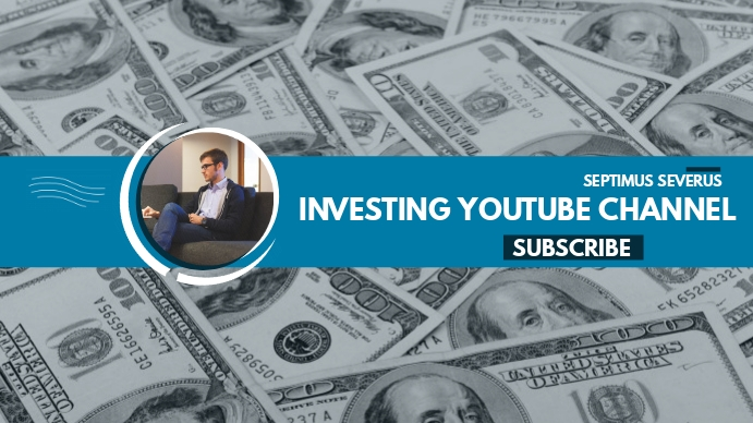 investing youtube channel cover Coverfoto til YouTube-kanal template