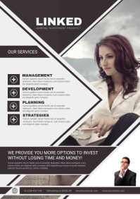 Investment Company Flyer A4 template