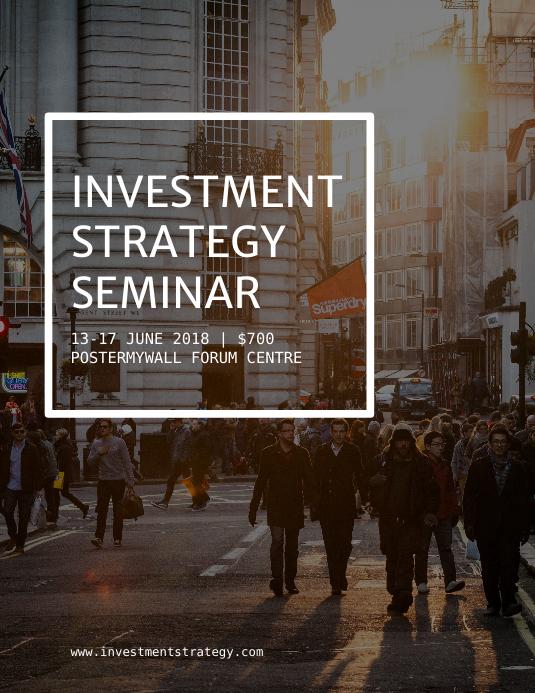 Investment Seminar Flyer Template