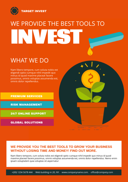 Investment Service Flyer A4 template