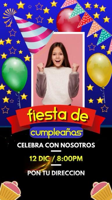 Invitación fiesta de cumpleaños template