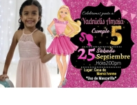 Invitacion de Barbie Folder (US Letter) template