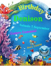 Invitacion de Cumpleaño Nemo